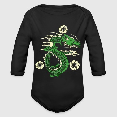 Asian Asian Dragon - Organic Long Sleeve Baby Bodysuit
