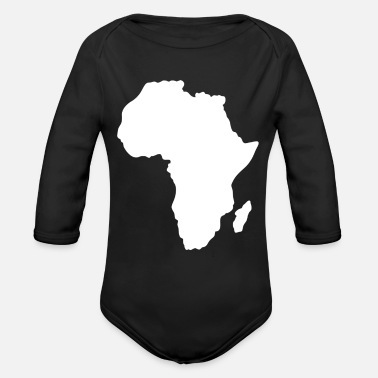 Black Power AFRICAN PRIDE MOTHERLAND BLACK POWER PANTHERS T-Shirt - Organic Long-Sleeved Baby Bodysuit