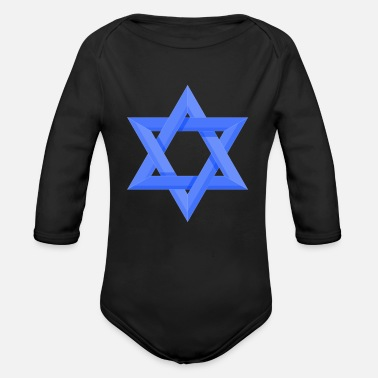 Star Of David Star of David - Organic Long-Sleeved Baby Bodysuit