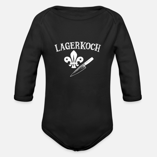 Tent Baby Clothing - lagerkoch - Organic Long-Sleeved Baby Bodysuit black
