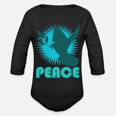 Dove Of Peace Dove of Peace - Organic Long Sleeve Baby Bodysuit