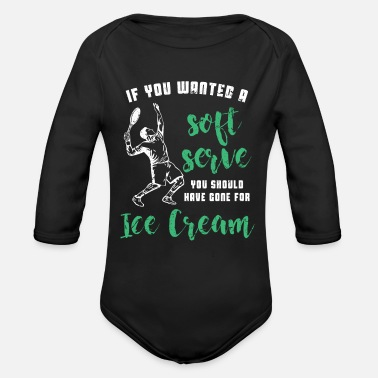 Soft Serve Tennis Soft Serve - Organic Long-Sleeved Baby Bodysuit