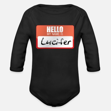 Horns Lucifer Devil Worshipper Devil Horns Satan - Organic Long-Sleeved Baby Bodysuit