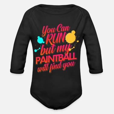 Paintball Paintball Escape Tactics Team Sport Hobby - Organic Long Sleeve Baby Bodysuit