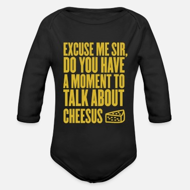 Cheesus Cheese Lover Gift Cheesus - Organic Long-Sleeved Baby Bodysuit