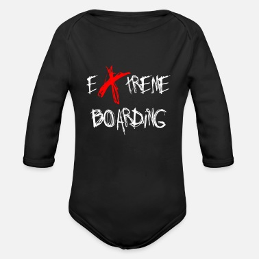 Snowboarder Snowboard Snowboard Snowboard Snowboard Snowboard - Organic Long-Sleeved Baby Bodysuit