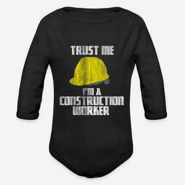Worker Construction Worker Trust - Organic Long-Sleeved Baby Bodysuit