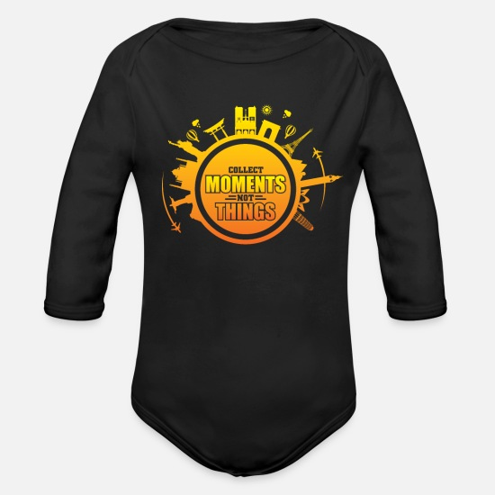 Travel Baby Clothing - travel - Organic Long-Sleeved Baby Bodysuit black