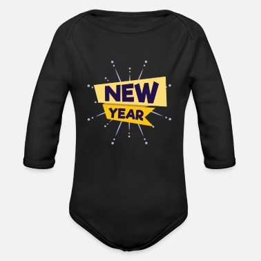 New Year New Years Eve New Year - Organic Long-Sleeved Baby Bodysuit