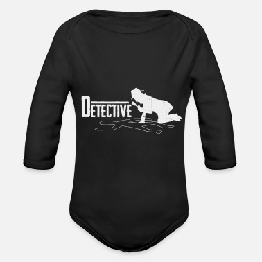 Detective detectives - Organic Long-Sleeved Baby Bodysuit