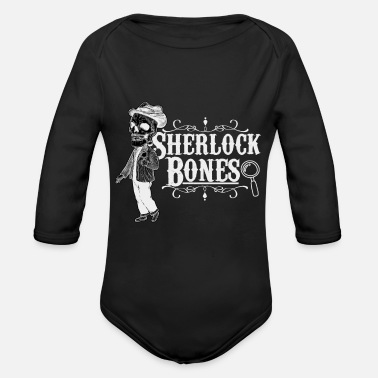 Detective detective - Organic Long-Sleeved Baby Bodysuit