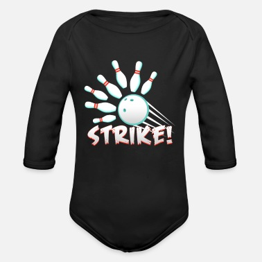 Strike Strike - Organic Long-Sleeved Baby Bodysuit
