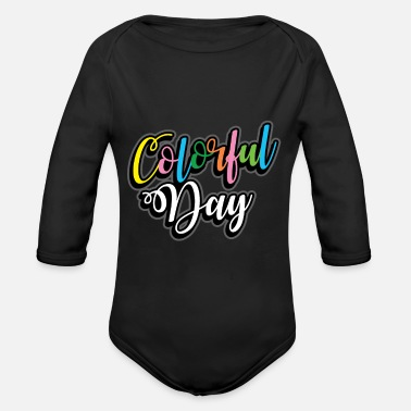 Color Colored Color Gift many colors - Organic Long-Sleeved Baby Bodysuit