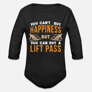 Ski Resort Ski Ski Resort Happiness - Organic Long Sleeve Baby Bodysuit