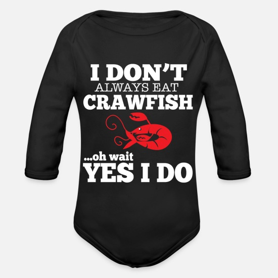 Squirting Baby Clothing - Crawfish lobster - Organic Long-Sleeved Baby Bodysuit black