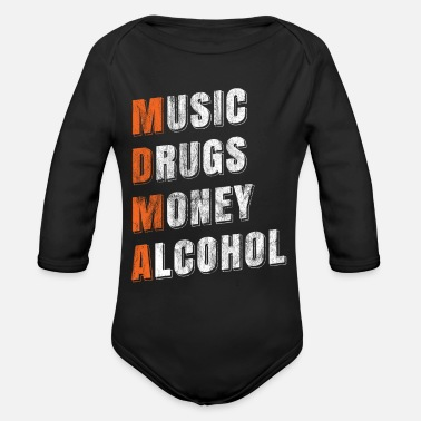 Rave MDMA ecstasy - Organic Long-Sleeved Baby Bodysuit