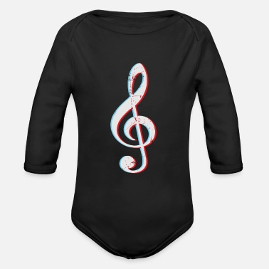 Music Symbols Clef Gift Sheet Music - Organic Long-Sleeved Baby Bodysuit