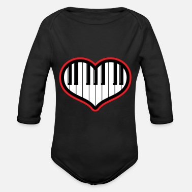 Piano Piano gift piano and grand piano - Organic Long Sleeve Baby Bodysuit