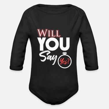 Engagement Engagement Gift Help - Organic Long-Sleeved Baby Bodysuit