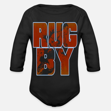 Rugby rugby - Organic Long Sleeve Baby Bodysuit
