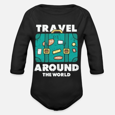 World Travel Travel world traveler - Organic Long-Sleeved Baby Bodysuit