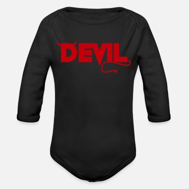 Horns Devil horn gift - Organic Long-Sleeved Baby Bodysuit