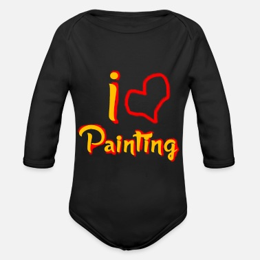 Paint Painting Hobby Sport - Organic Long-Sleeved Baby Bodysuit
