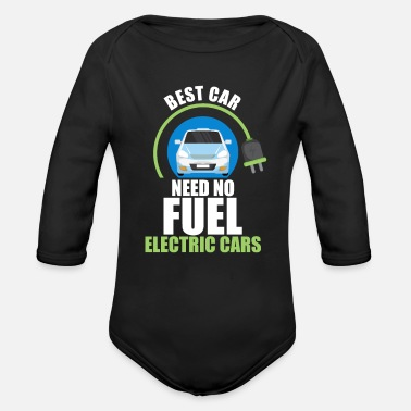 Energy-conscious Electric car electromobility electricity gift - Organic Long-Sleeved Baby Bodysuit