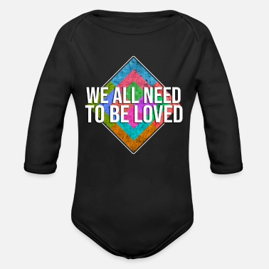 Connectedness I look into your heart and love you! - Organic Long-Sleeved Baby Bodysuit