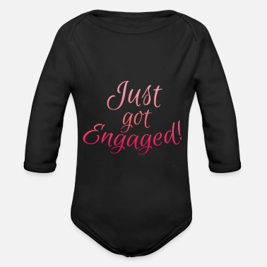 Engagement Engagement Engaged - Organic Long-Sleeved Baby Bodysuit