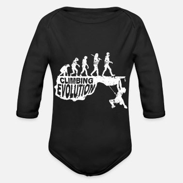 Rock Climbing Climbing Evolution Rock Climb Mountain - Organic Long-Sleeved Baby Bodysuit