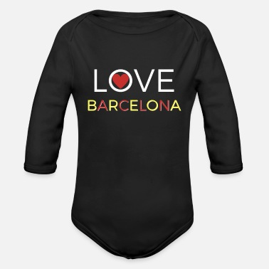 Catalan Love Barcelona Catalans - Organic Long-Sleeved Baby Bodysuit