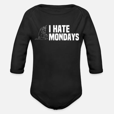 Creature I hate Mondays - Annoyed mythical creatur - Organic Long-Sleeved Baby Bodysuit
