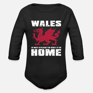 Home Country Wales Home Country - Organic Long-Sleeved Baby Bodysuit