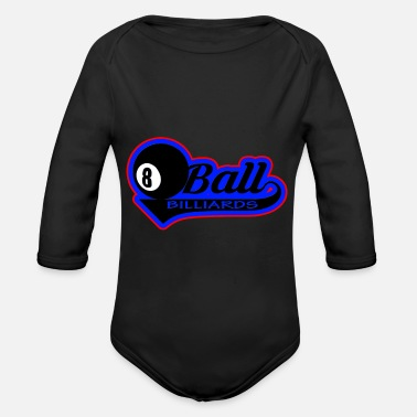 Ball Billiard ball ball - Organic Long-Sleeved Baby Bodysuit