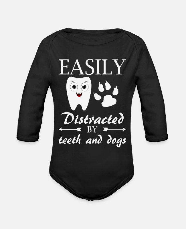 Dental Lab Technician Baby One Pieces - dental office health center laboratory duties - Organic Long-Sleeved Baby Bodysuit black