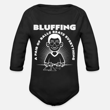 Bluff bluff - Organic Long-Sleeved Baby Bodysuit
