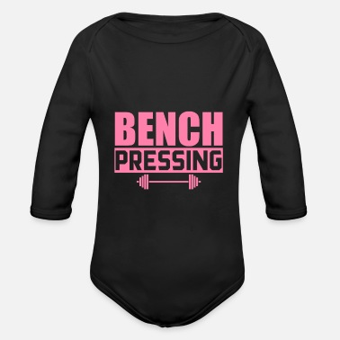 Bench Bench Press Bench Press Bench Press Bench Press - Organic Long-Sleeved Baby Bodysuit