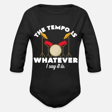 Music Group Drummer determines the tempo band music group - Organic Long-Sleeved Baby Bodysuit