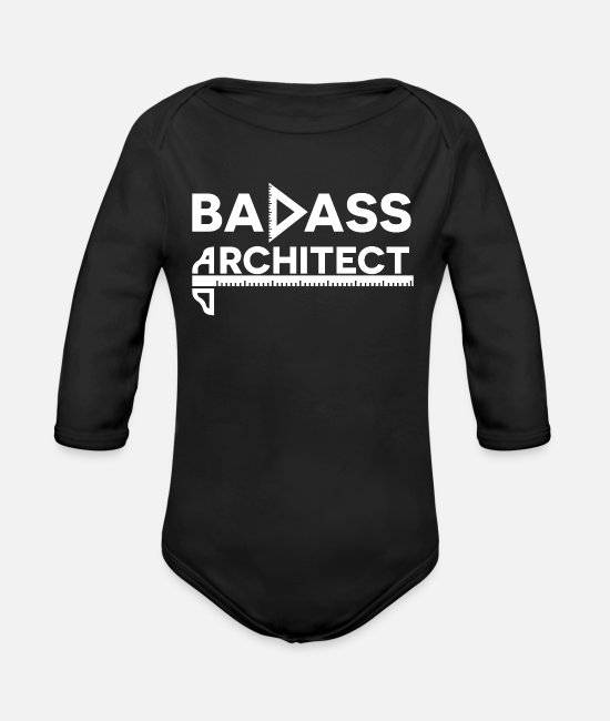 Design Baby One Pieces - Architecture Architect Student Architectural Gift - Organic Long-Sleeved Baby Bodysuit black