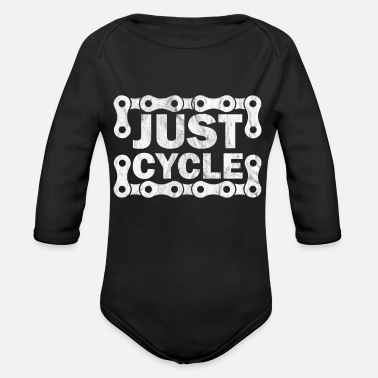 Bicyclette bike cycling bicycle bicyclette cyclist biking - Organic Long-Sleeved Baby Bodysuit