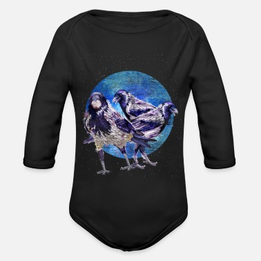 Ornithologist Crow Ornithologist - Organic Long-Sleeved Baby Bodysuit