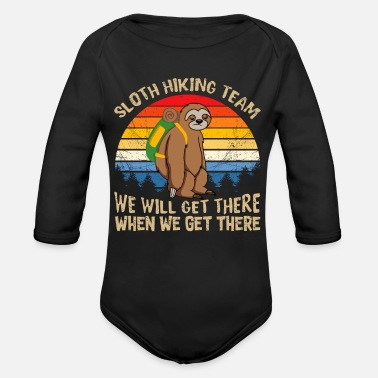 Sloth Sloth Hiking Team - Organic Long-Sleeved Baby Bodysuit