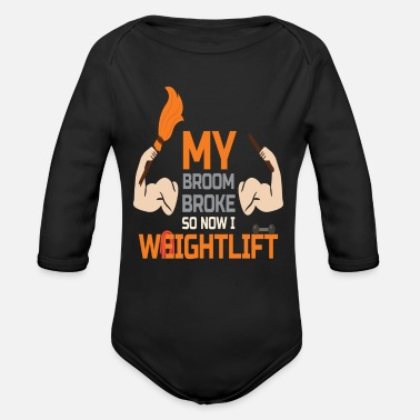 Lifting Halloween Design for Weight Lifting Lovers - Organic Long-Sleeved Baby Bodysuit