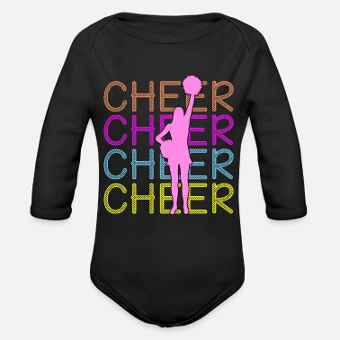 Cheers Cheerleading - Cheer Cheer Cheer - Organic Long-Sleeved Baby Bodysuit