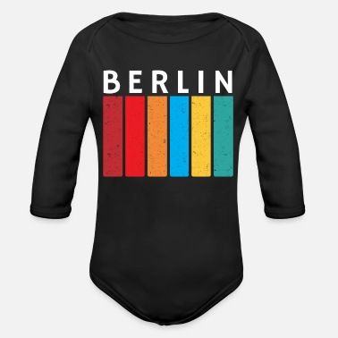 Cultural Capital Berlin Retro Vintage Style - Organic Long-Sleeved Baby Bodysuit
