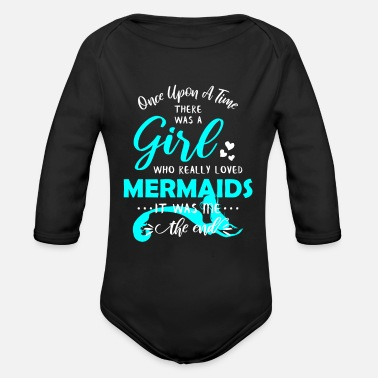 Back To School Funny Mermaid Gifts For Girls Mermaid Lover Gifts - Organic Long-Sleeved Baby Bodysuit