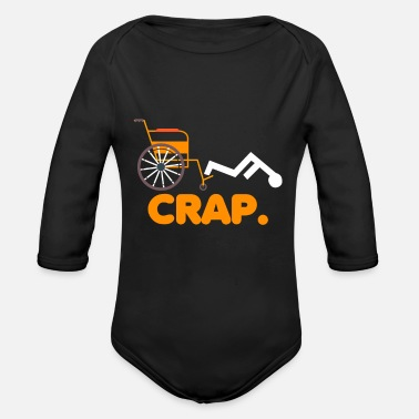 Handicap Funny Funny Handicapped Joke Handicap Wheelchair Fail - Organic Long-Sleeved Baby Bodysuit