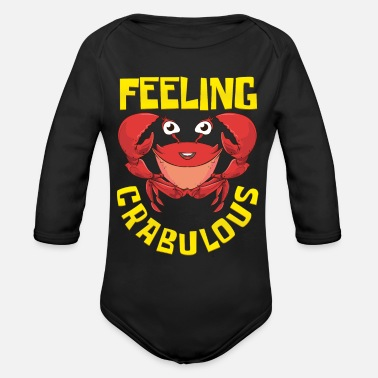 Florida Crab Funny Vacation - Organic Long-Sleeved Baby Bodysuit