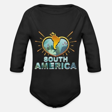 South America South America - Organic Long-Sleeved Baby Bodysuit